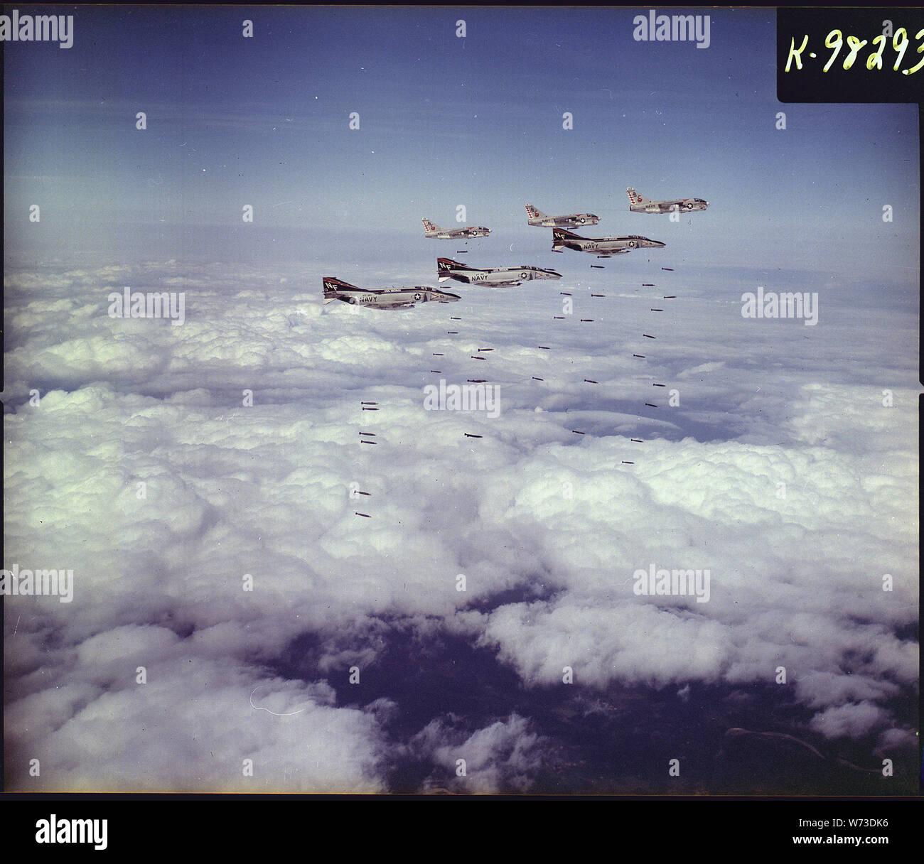 Vietnam  Three Fighter Squadron 161 (VF-161) F-4B Phantom II