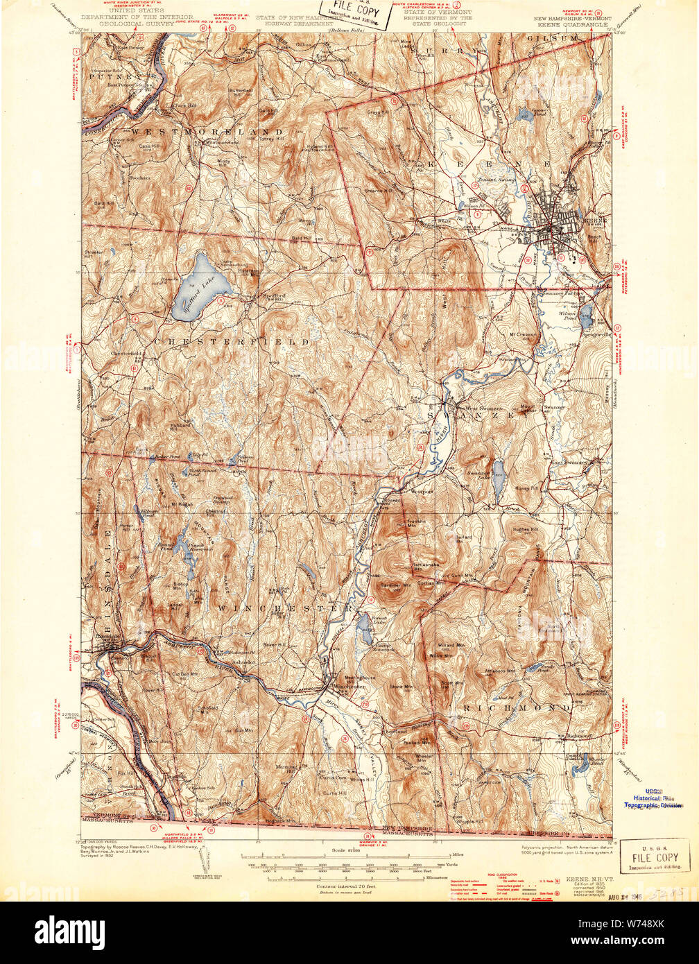 USGS TOPO Map New Hampshire NH Keene 330119 1935 62500 Restoration Keene Nh Map State on lancaster nh map, newburyport nh map, peterborough nh map, peabody nh map, hooksett nh map, methuen nh map, jacksonville nh map, connecticut new england map, keene new hampshire, nh state road map, westminster nh map, manchester nh on map, brattleboro nh map, plymouth nh map, franklin nh map, mansfield nh map, walpole nh map, buffalo nh map, cheshire nh map, monadnock mountain nh map,