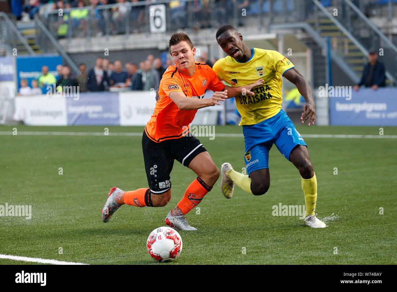02 08 2019 Voetbal Cambuur V Fc Volendam Leeuwarden Alex Bangura Of Sc Cambuur Nick Runderkamp Of Fc Volendam Stock Photo Alamy