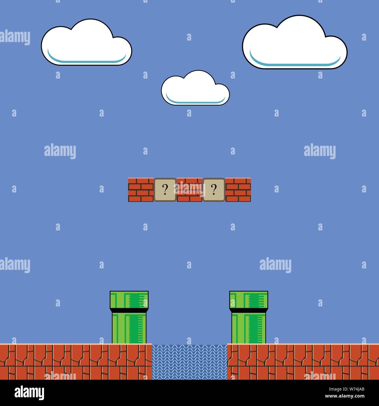 Super Mario Bros Stock Vector Images Alamy
