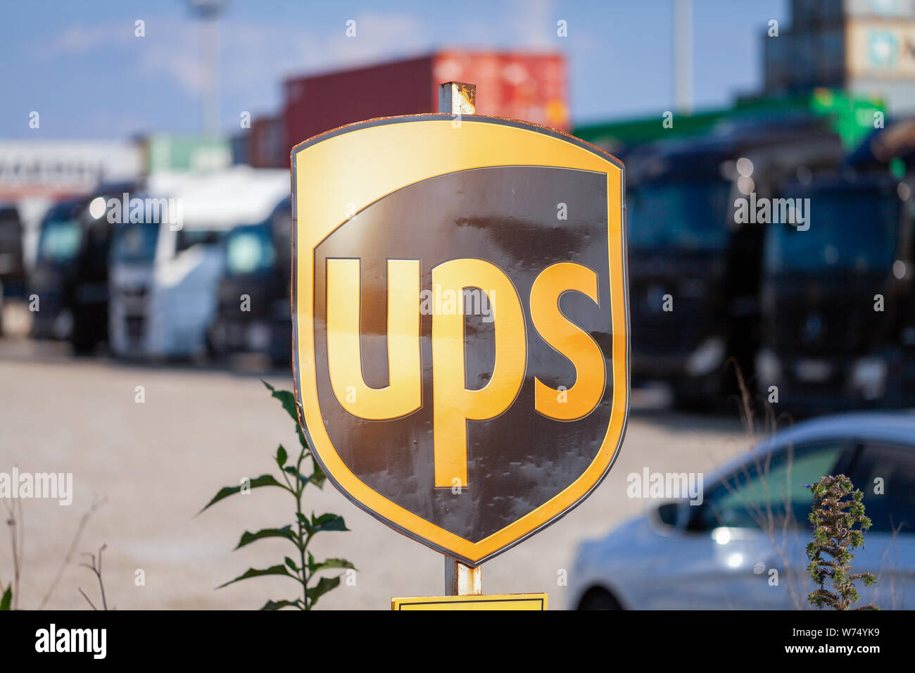 NUREMBERG / GERMANY - AUGUST 4, 2019: Company sign from the