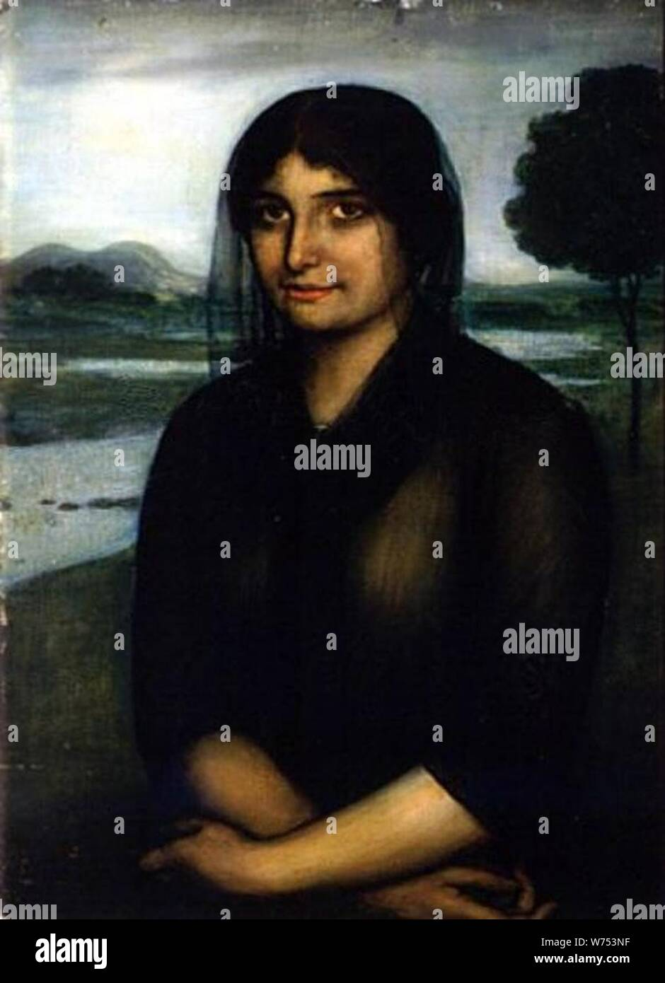 De luto by Julio Romero de Torres. Stock Photo