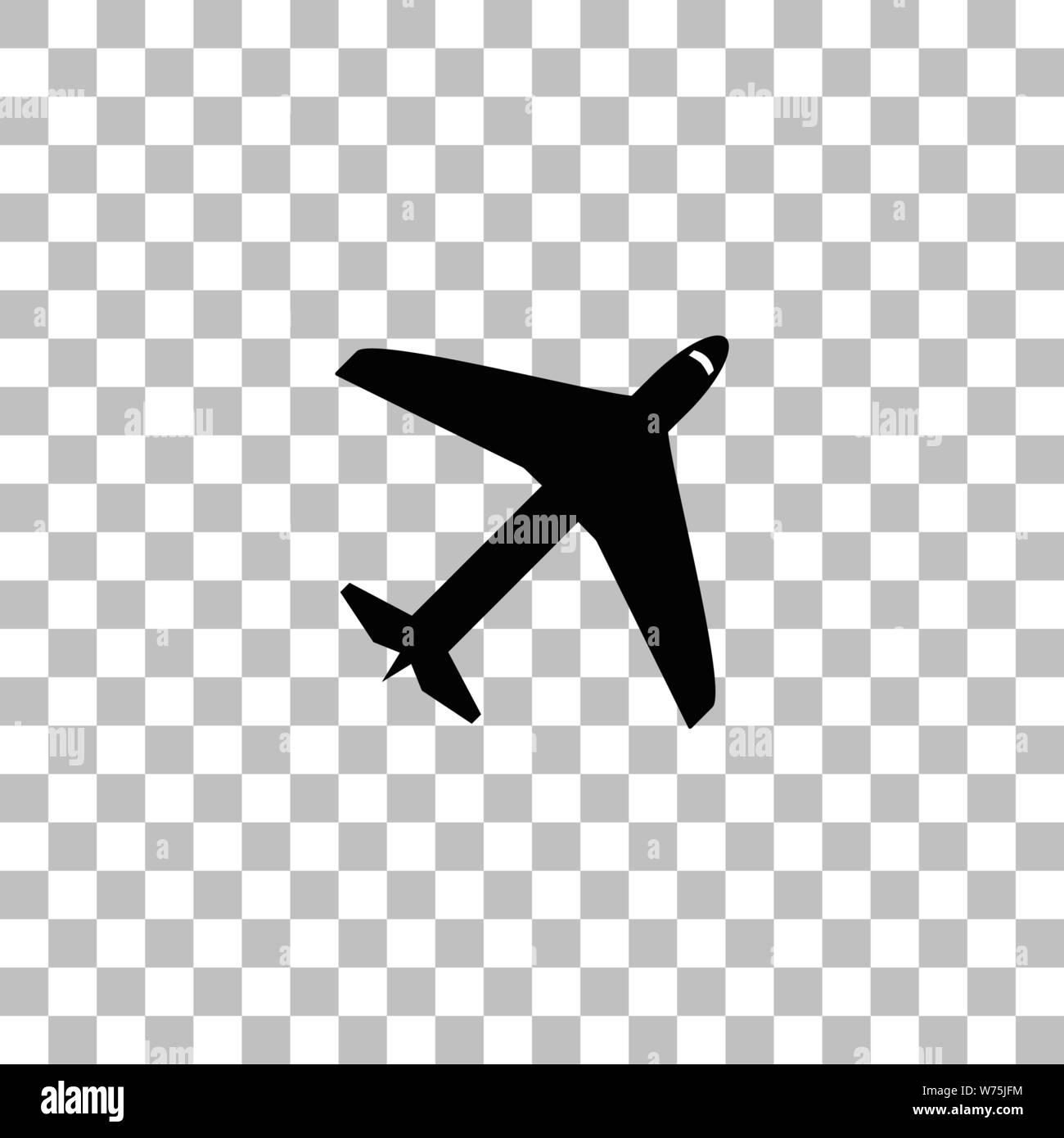 white airplane icon transparent