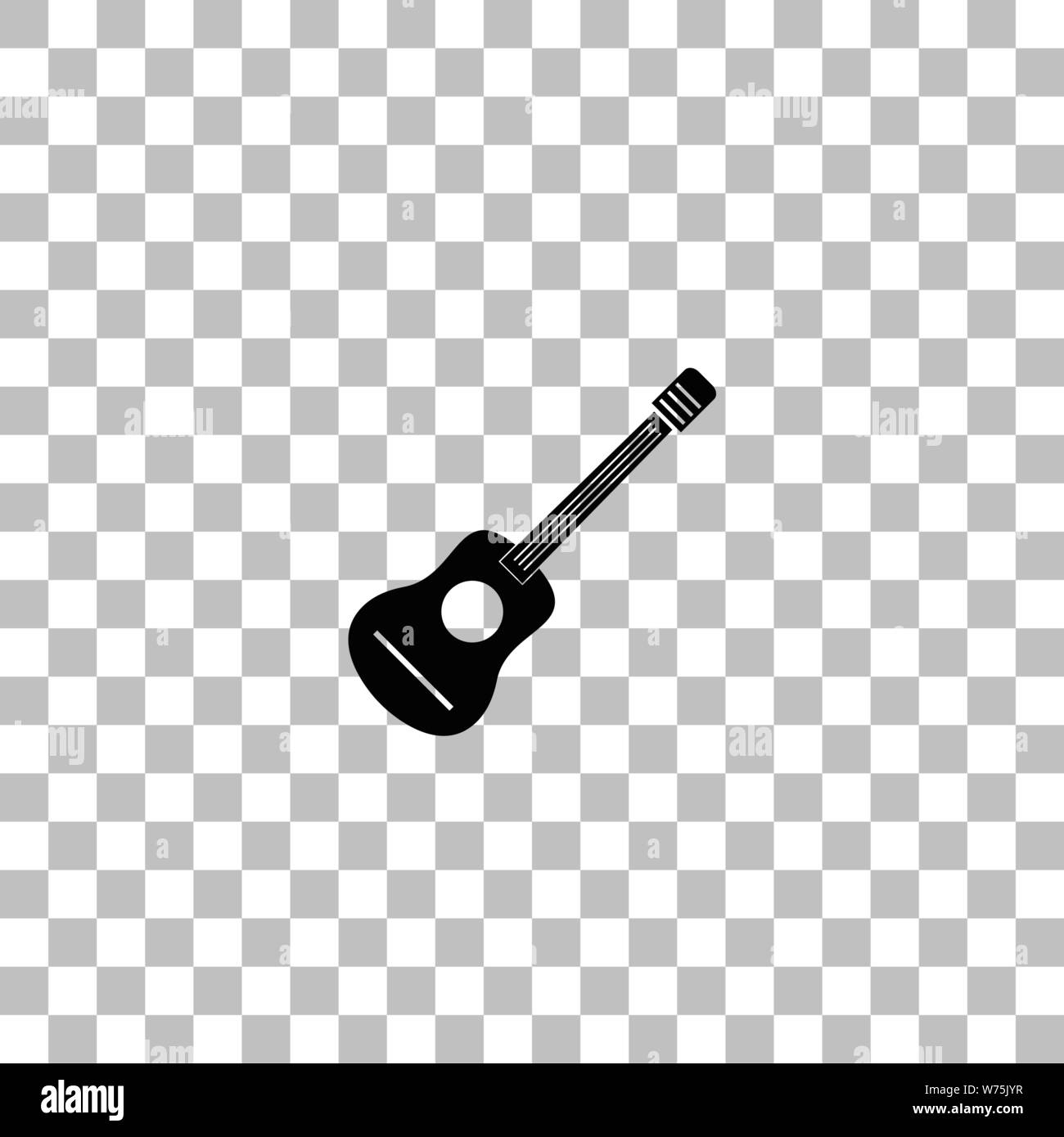 Acoustic Guitar Black Flat Icon On A Transparent Background Pictogram For Your Project Stock Vector Image Art Alamy