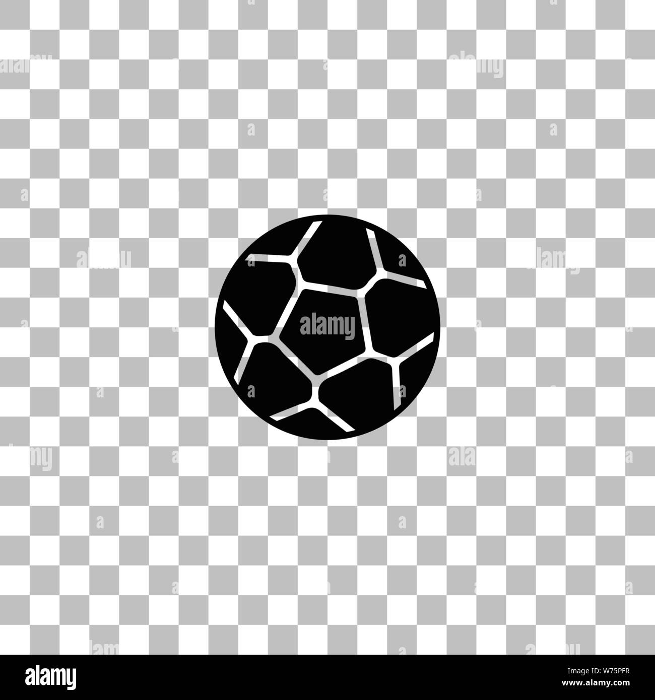 Soccer Ball Black Flat Icon On A Transparent Background Pictogram For Your Project Stock Vector Image Art Alamy
