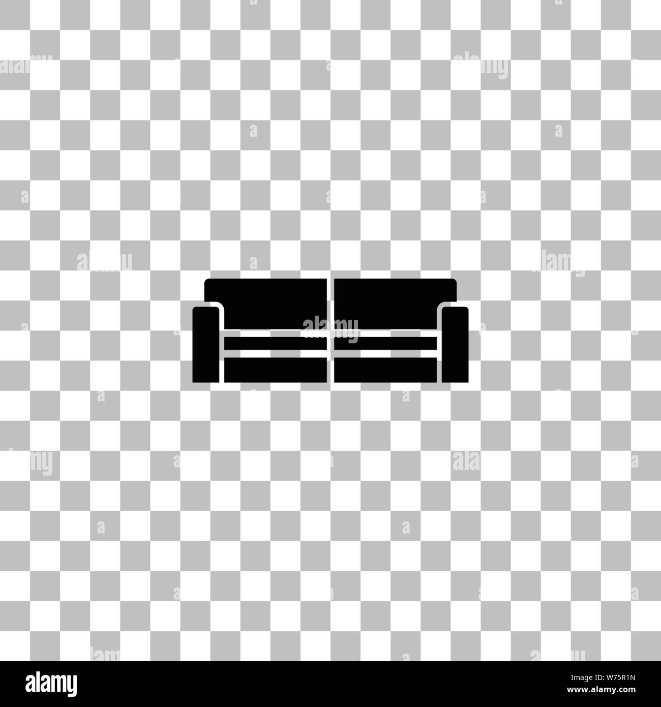 Swell Sofa Black Flat Icon On A Transparent Background Pictogram Theyellowbook Wood Chair Design Ideas Theyellowbookinfo