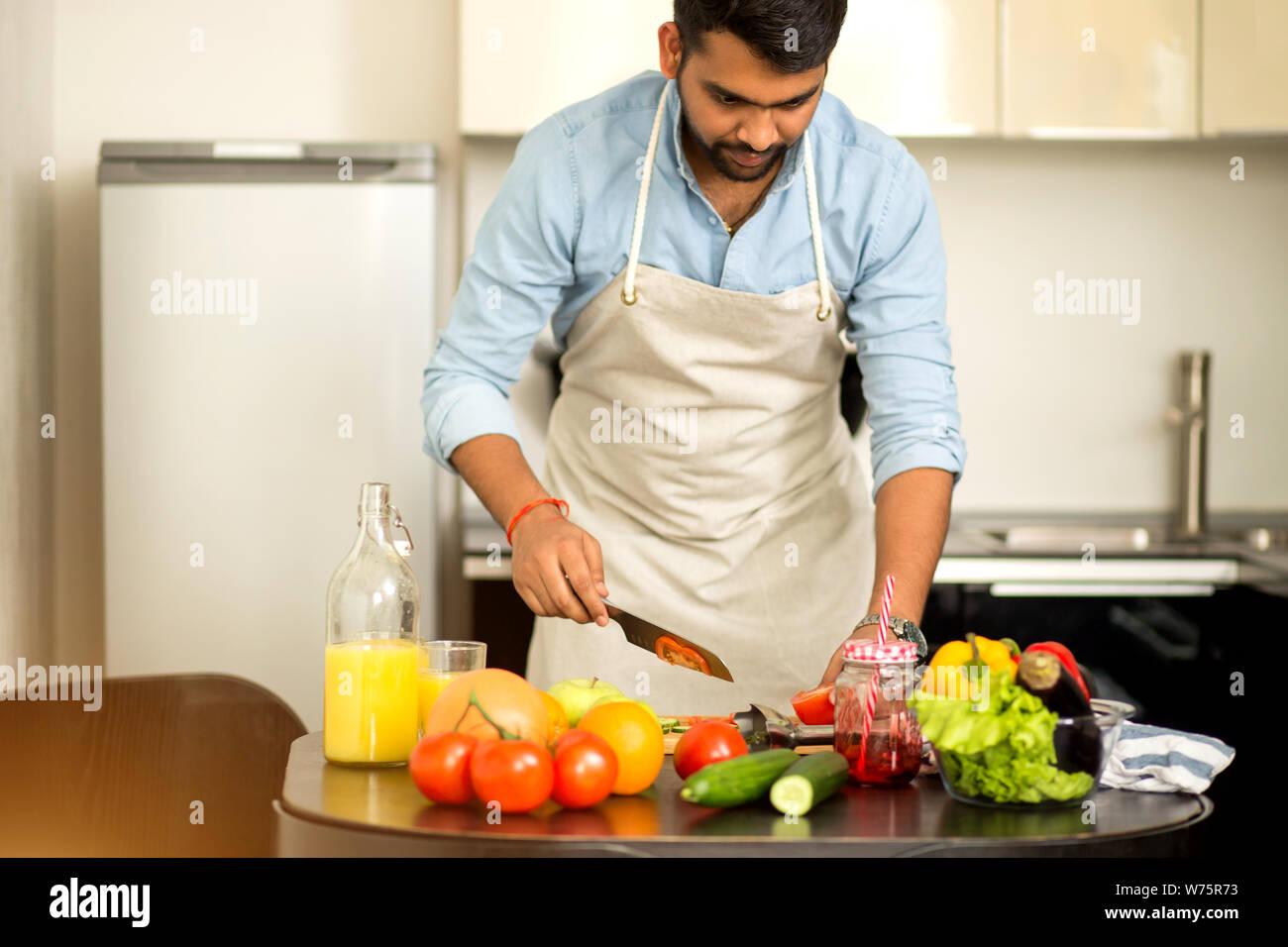 Indian Wife Kitchen Stock Photos Indian Wife Kitchen Stock