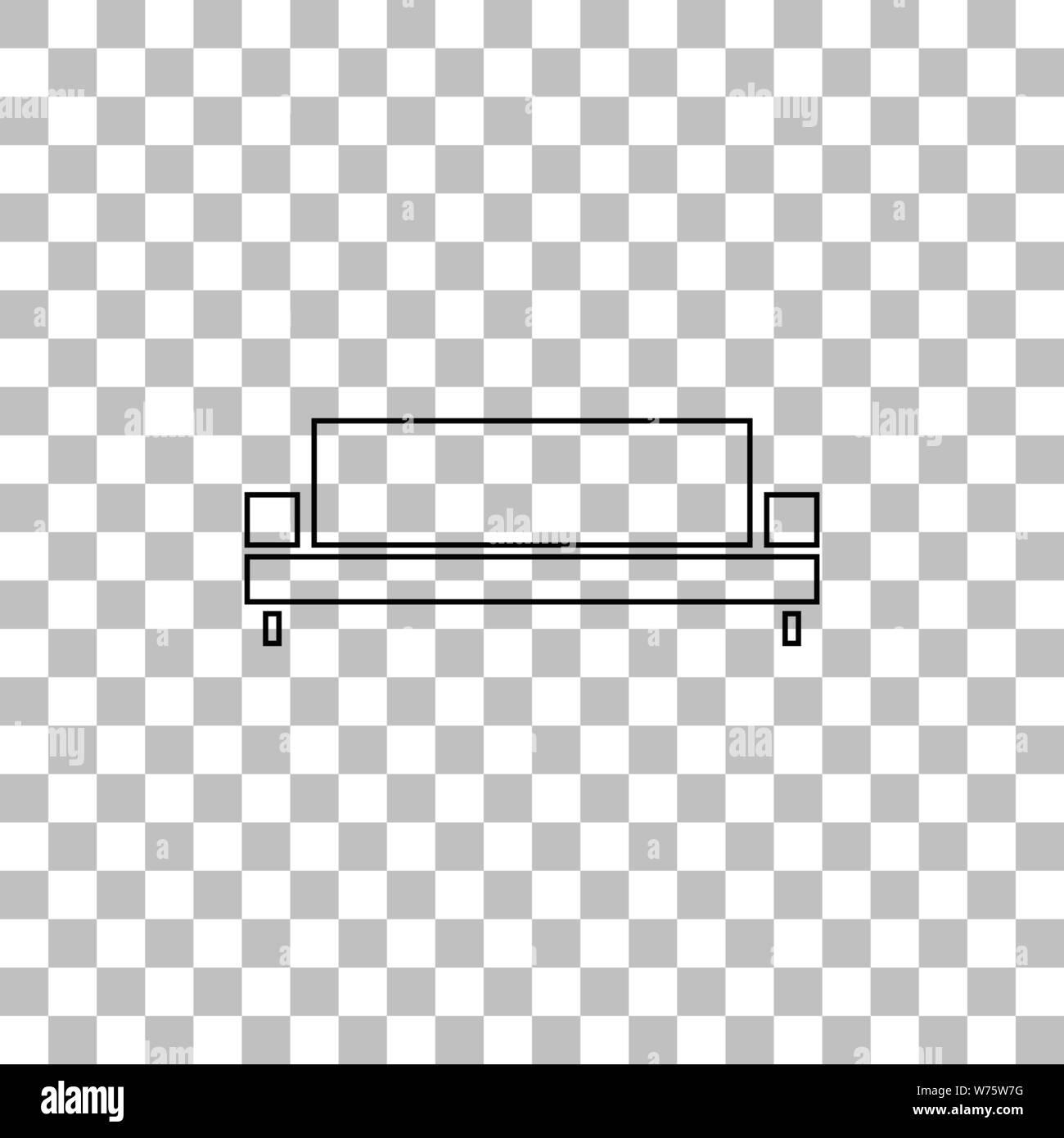 Brilliant Sofa Black Flat Icon On A Transparent Background Pictogram Theyellowbook Wood Chair Design Ideas Theyellowbookinfo