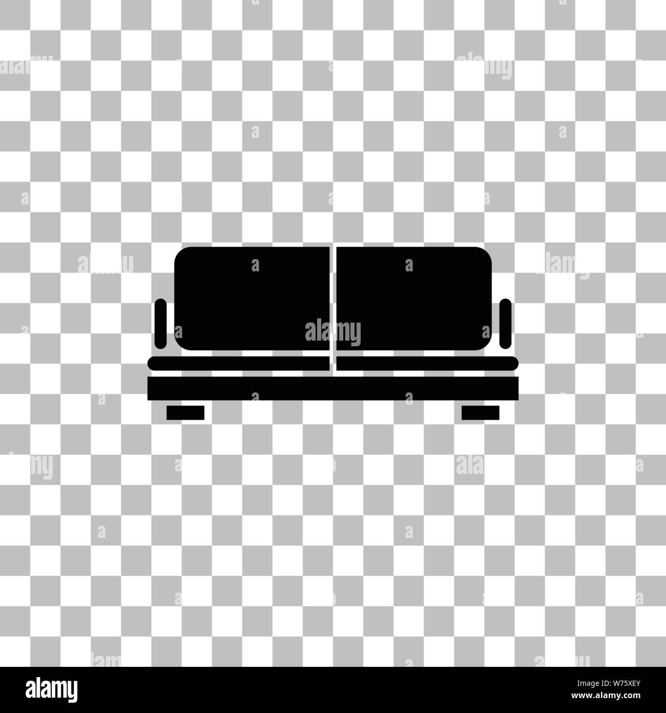 Awesome Sofa Black Flat Icon On A Transparent Background Pictogram Theyellowbook Wood Chair Design Ideas Theyellowbookinfo