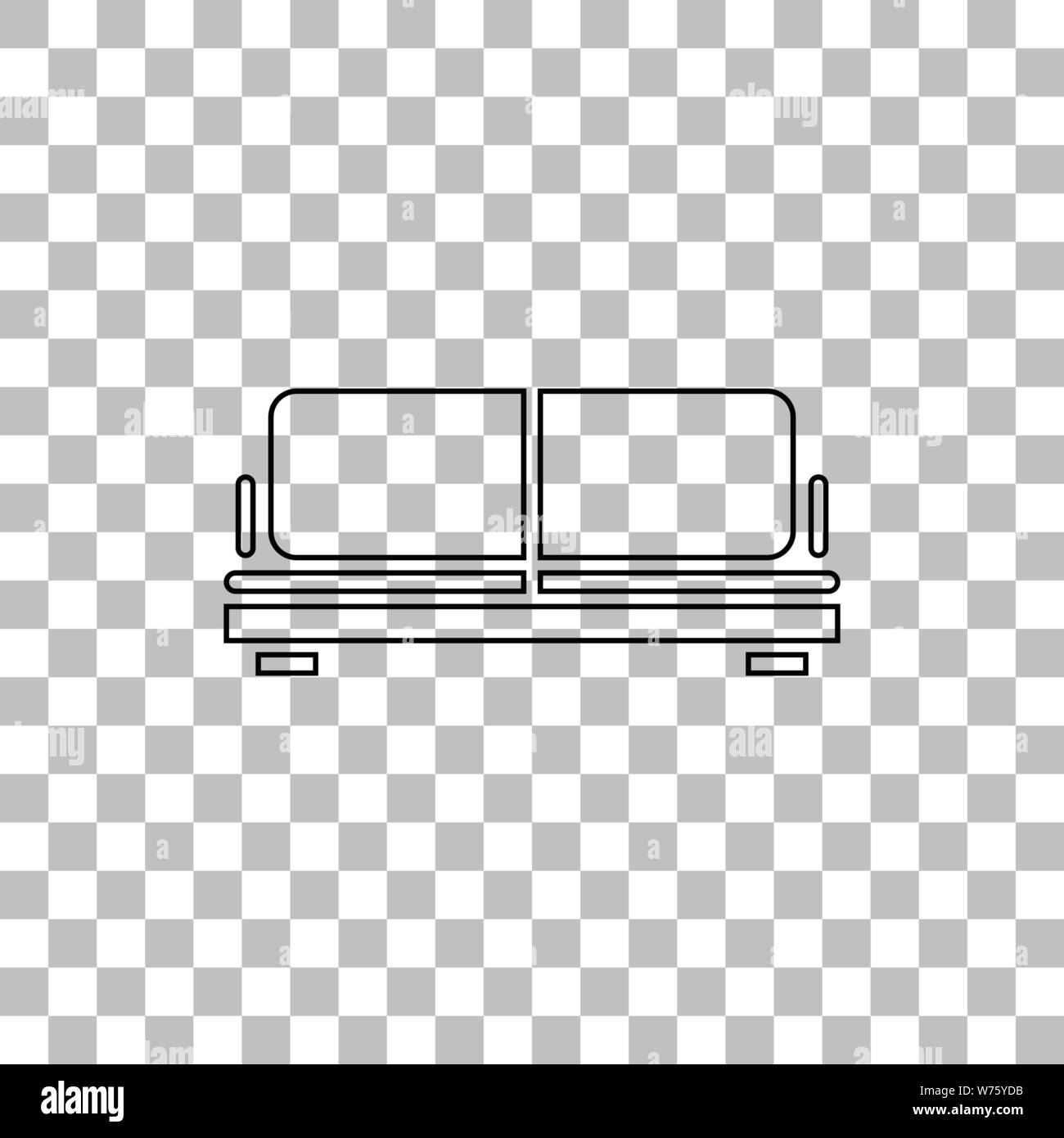 Surprising Armchair Black Flat Icon On A Transparent Background Theyellowbook Wood Chair Design Ideas Theyellowbookinfo