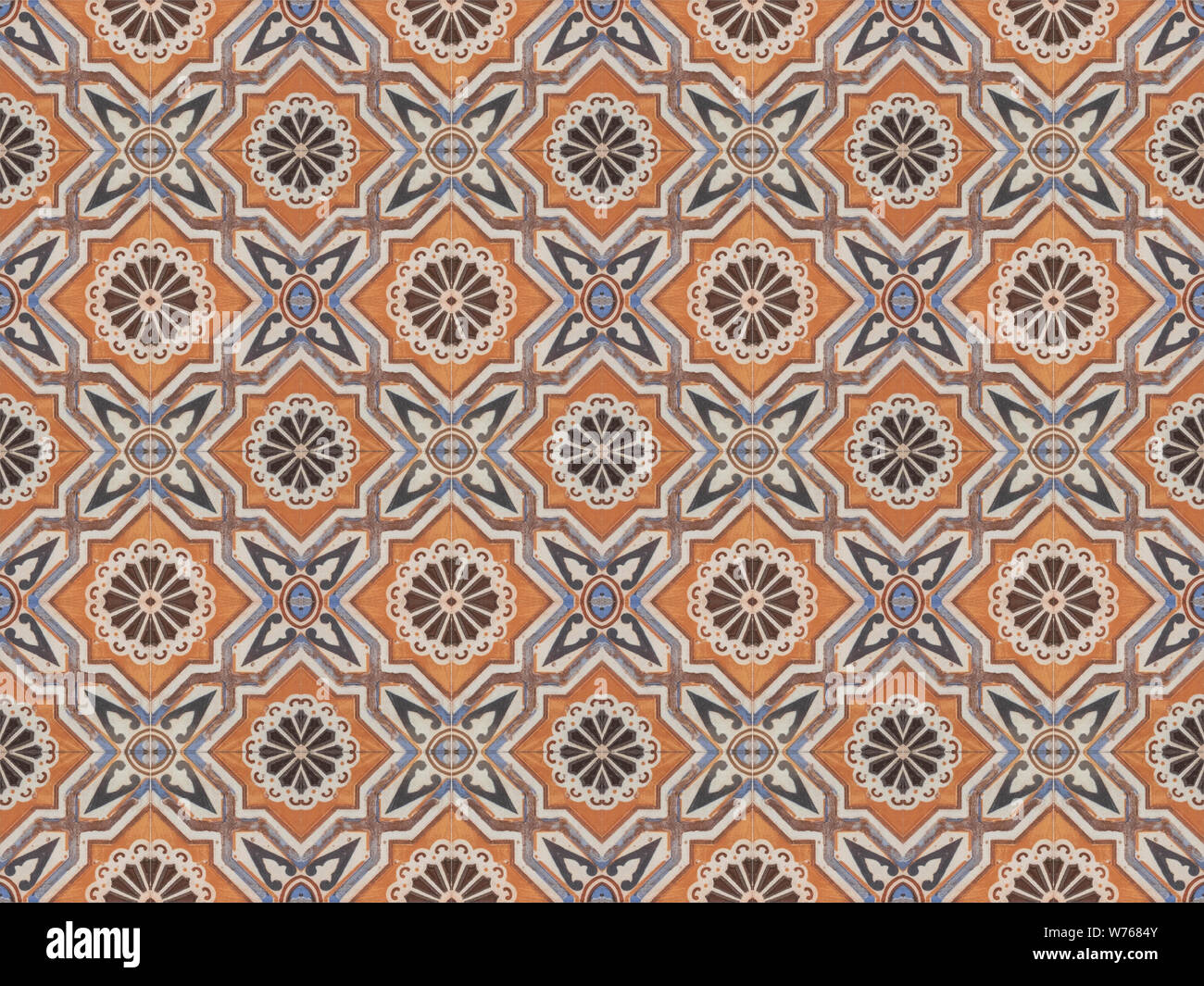 Turkish traditional ornamental decorative tiles. Seamless pattern abstract background concept. Stock Photo