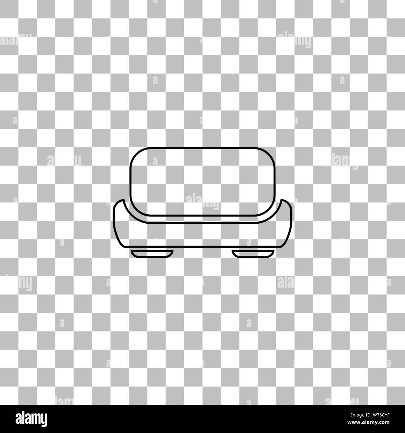 Peachy Sofa Black Flat Icon On A Transparent Background Pictogram Theyellowbook Wood Chair Design Ideas Theyellowbookinfo