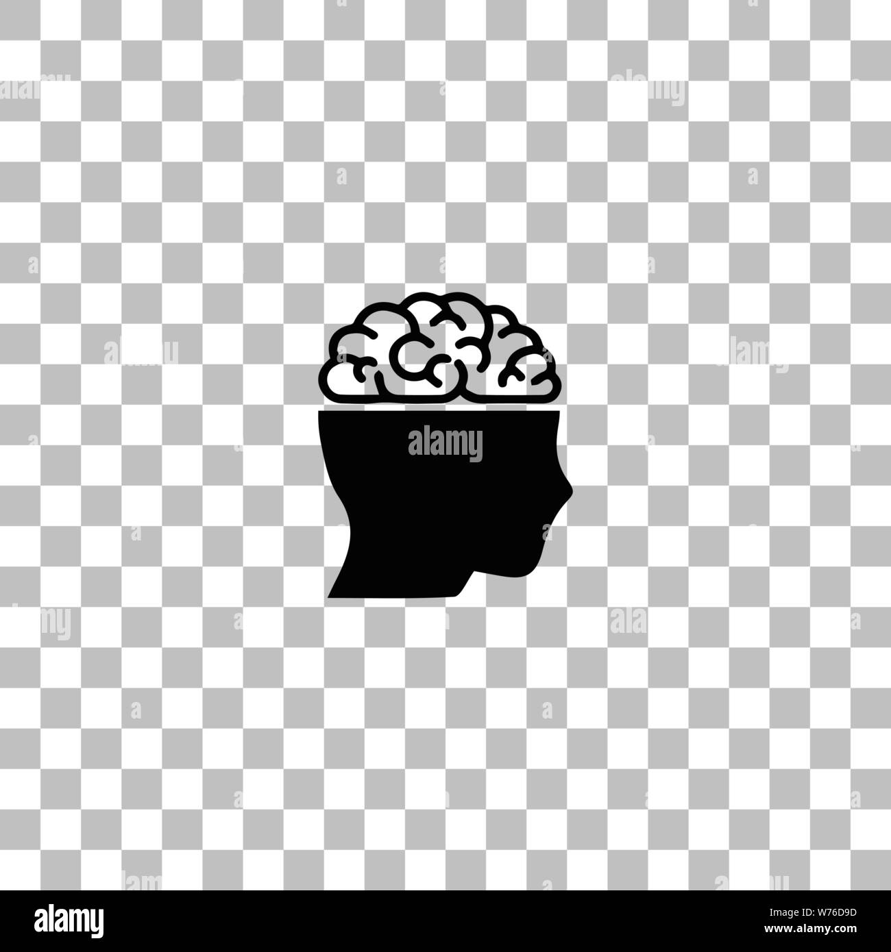 Human Brain Black Flat Icon On A Transparent Background Pictogram For Your Project Stock Vector Image Art Alamy Minion vector icon isolated on transparent background, minion lo. https www alamy com human brain black flat icon on a transparent background pictogram for your project image262600281 html