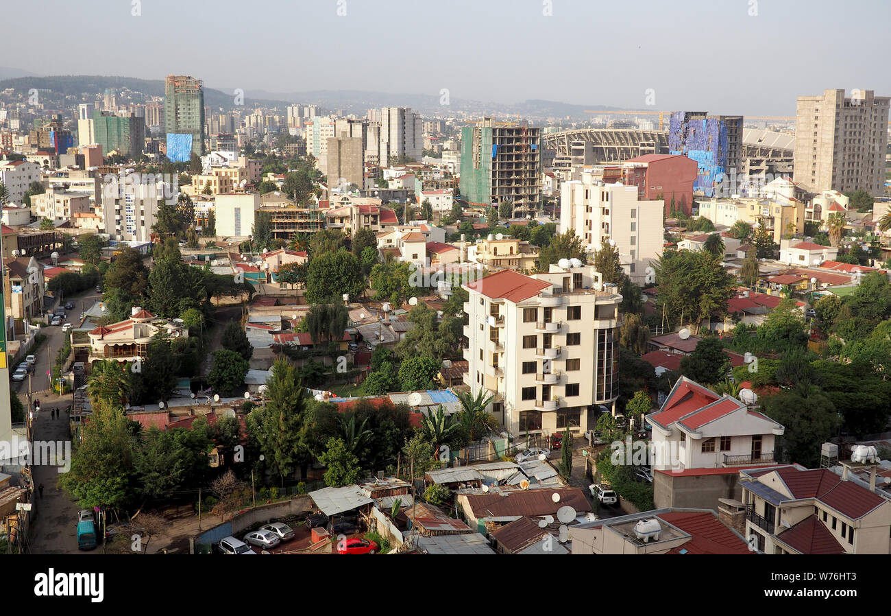 Addis Ababa Ethiopia 18 July 2019 The Vast City Of Addis Ababa Capital Of Ethiopia Is One Of The Fastest Growing Cities On The African Continent Stock Photo Alamy