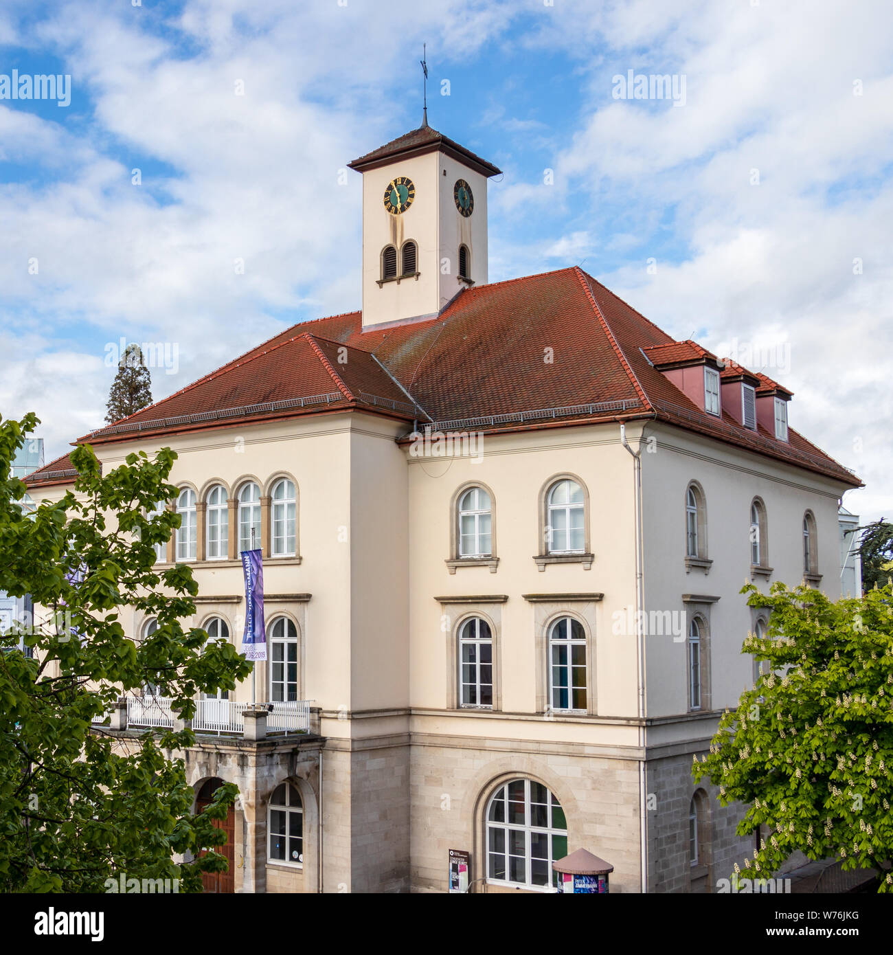 Sindelfingen, Baden Wurttemberg/Germany - May 11, 2019: Detail view on City Gallery building, Stadtgalerie. Stock Photo