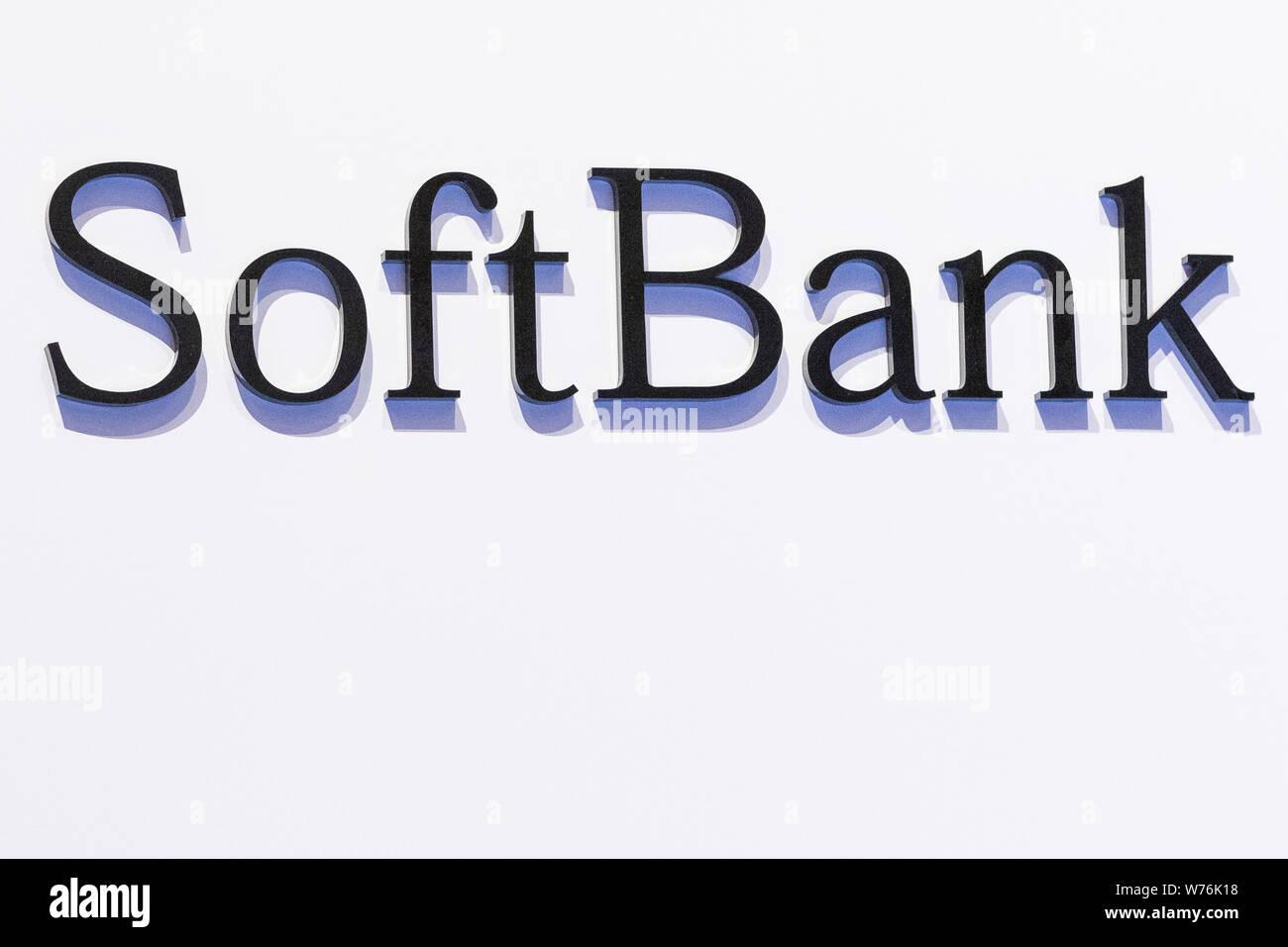 Tokyo, Japan  5th Aug, 2019  A logo of SoftBan Corp  is seen