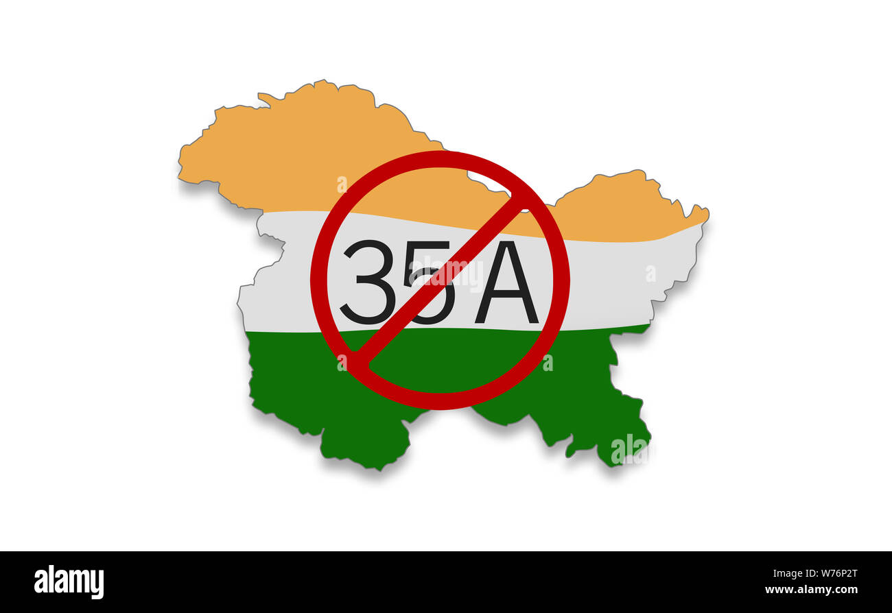 Jammu and Kashmir special status, Decoding Article 35A and Article 370 Stock Photo