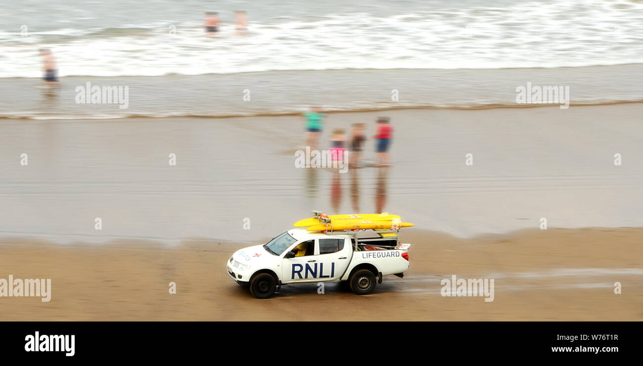 RNLI Beach patrol Stock Photo