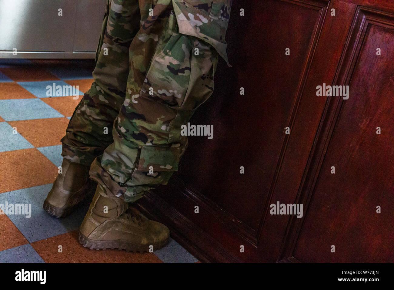 Army uniform, detail, Roma, Texas, USA. Stock Photo