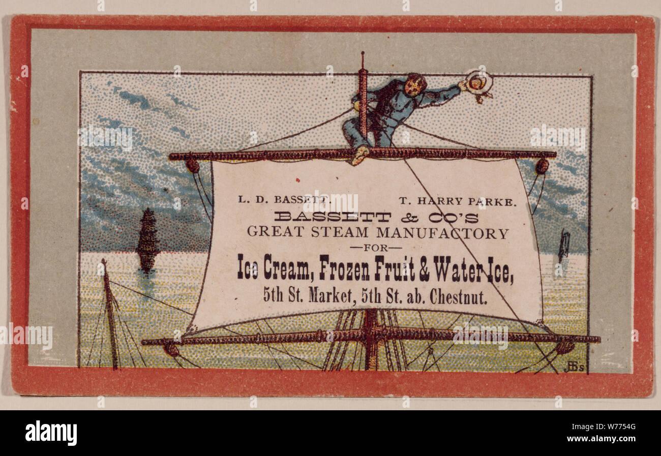 1920s-vintage advertising flier for the Bassett's Ice Cream