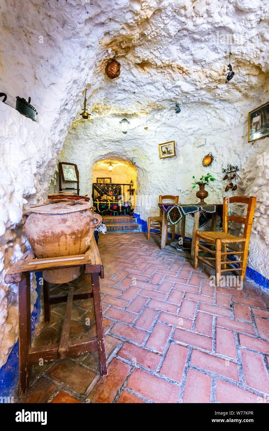Granada, Spain - May 2016: Museum of Gipsy, history of