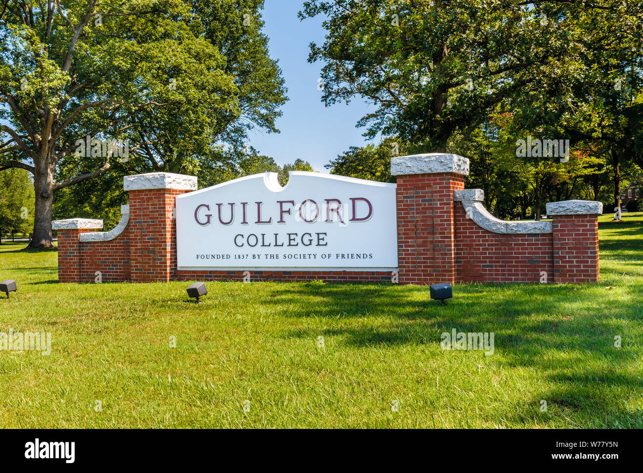Colleges In Greensboro Nc >> Greensboro Nc Usa July 27 Entrance Sign On July 27