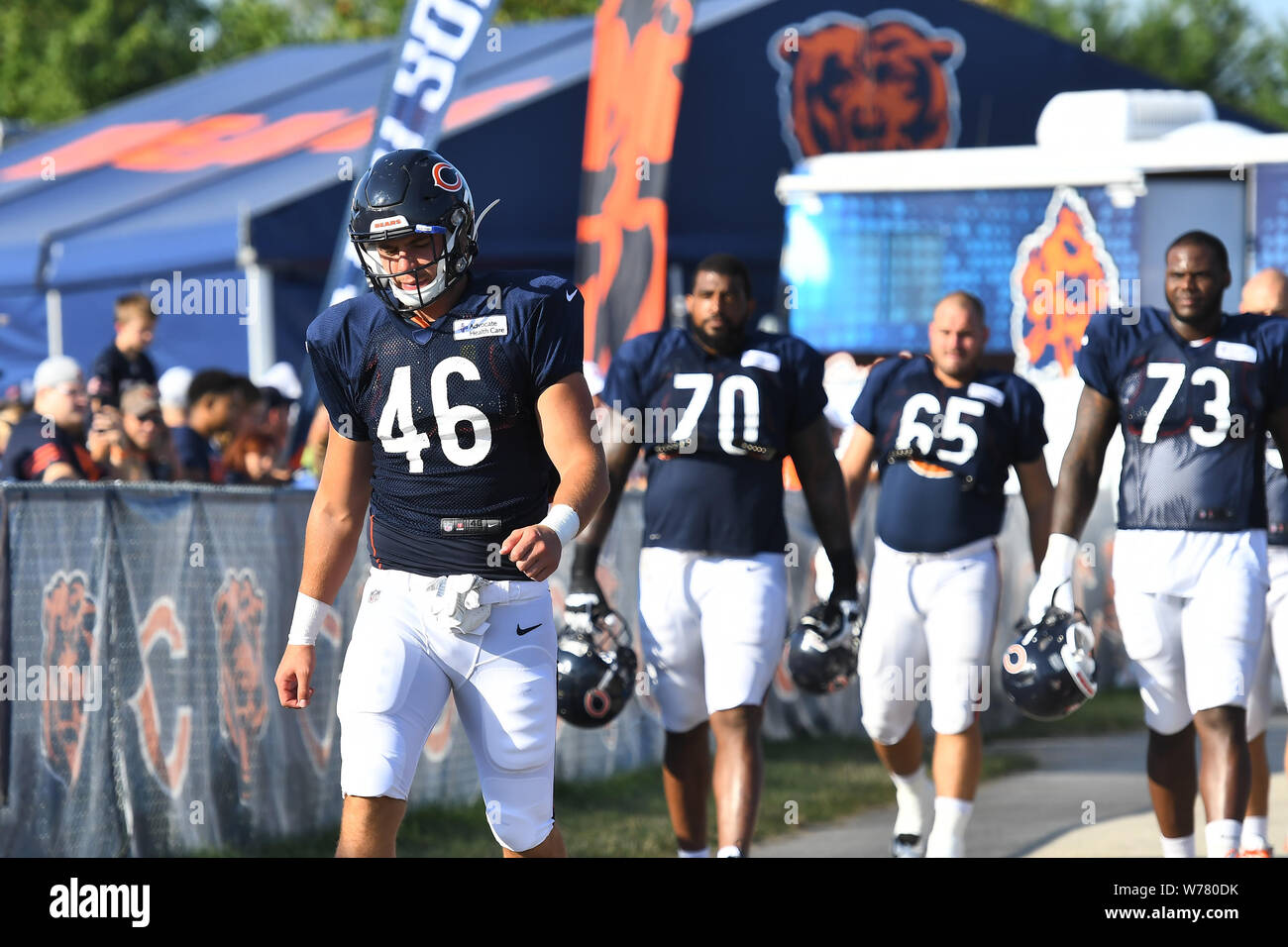 low priced 1d792 1b92e August 05, 2019: Dax Raymond (46) of the Chicago Bears and ...