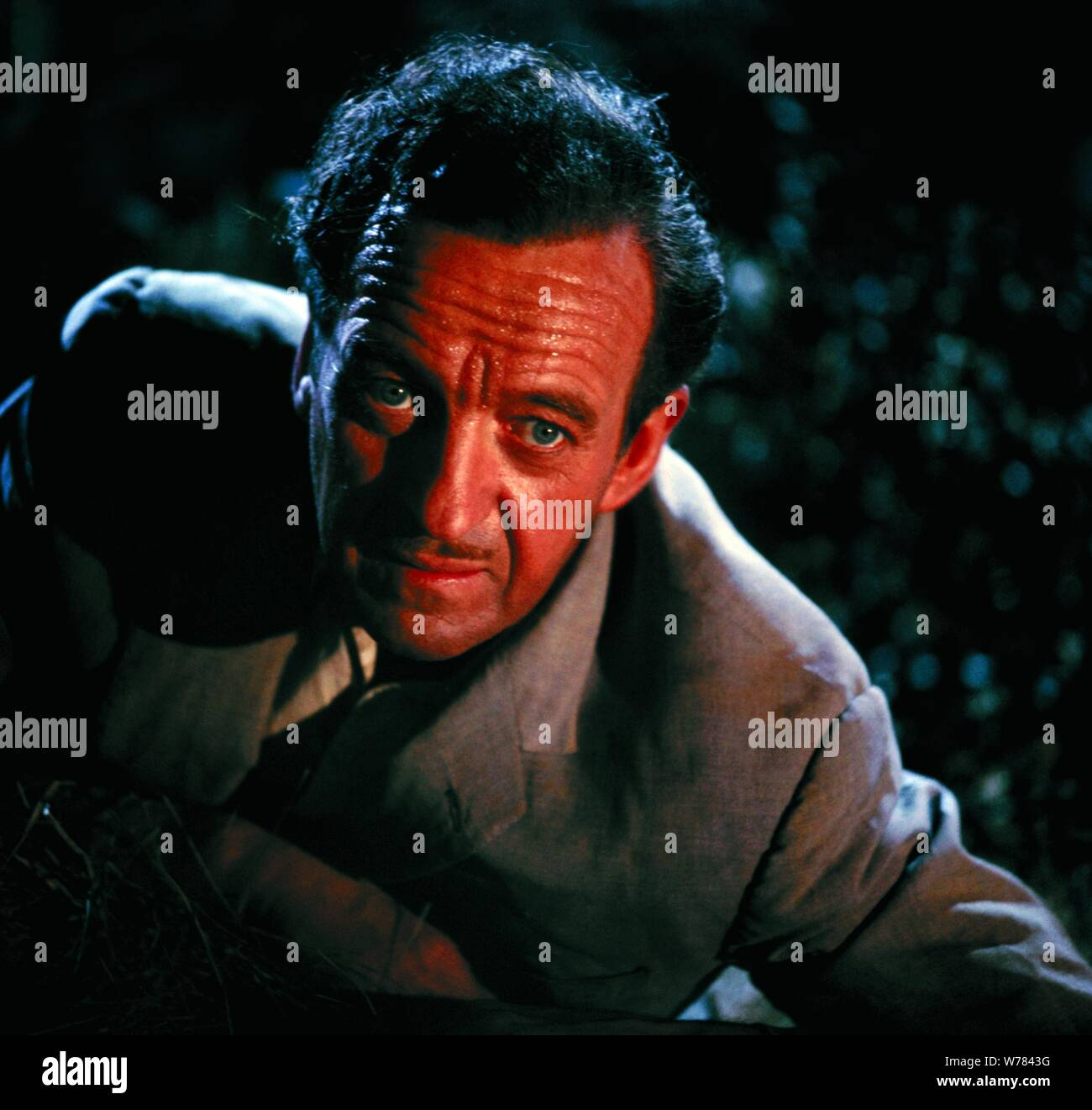 DAVID NIVEN, GUNS OF DARKNESS, 1962 Stock Photo