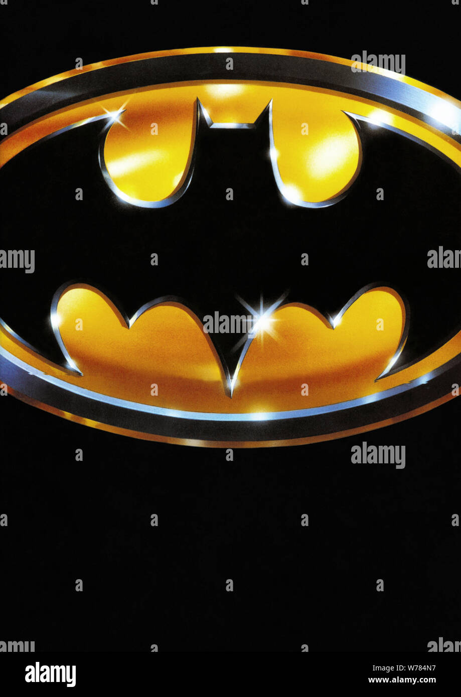 Batman Logo Batman 1989 Stock Photo Alamy