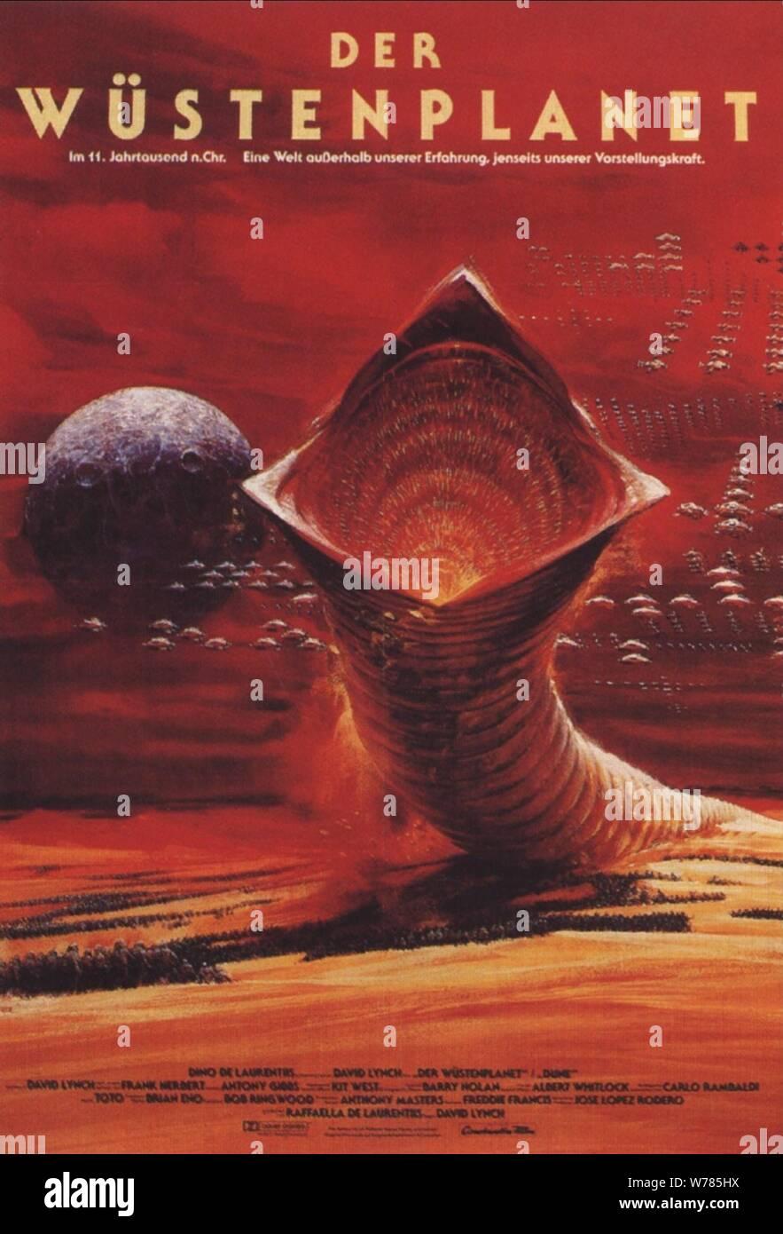 Movie Poster Dune 1984 Stock Photo Alamy