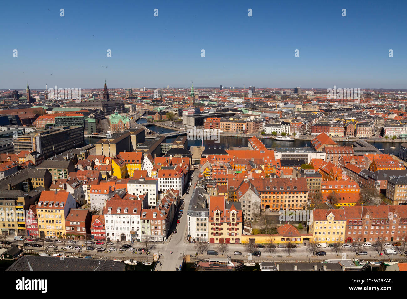 Copenhagen city view from the top Stock Photo