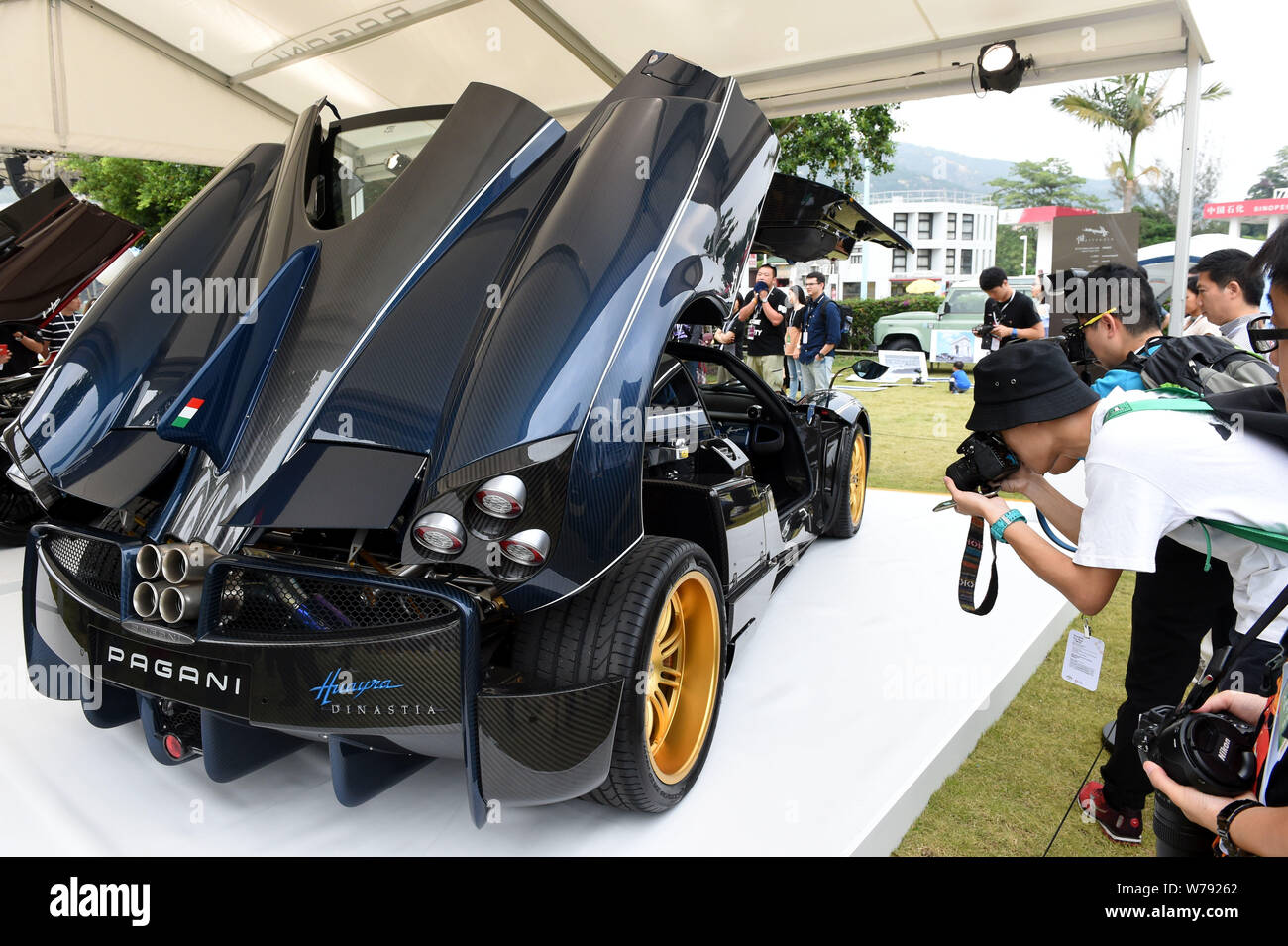 A Limited Edition Huayra Dinastia Sports Car Of Italian Manufacturer Pagani Automobili S P A Is On Display During The Second Gold Coast Motor Festiva Stock Photo Alamy