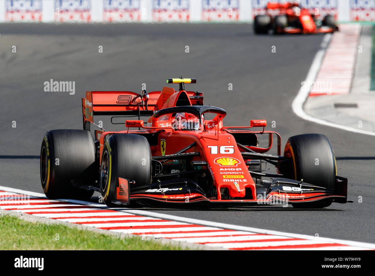 Formula 1 racing weekend in Hungaroring circuit Hungary august 04 2019 Stock Photo