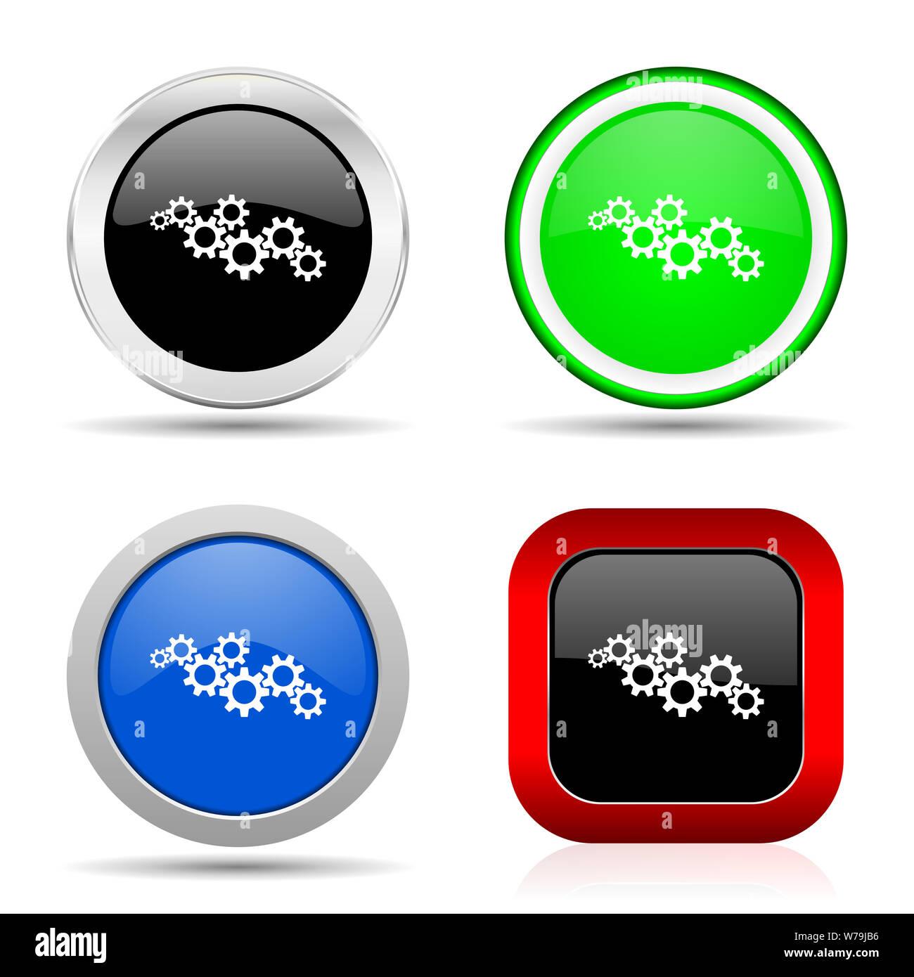 Cog Icon Black Stock Photos & Cog Icon Black Stock Images