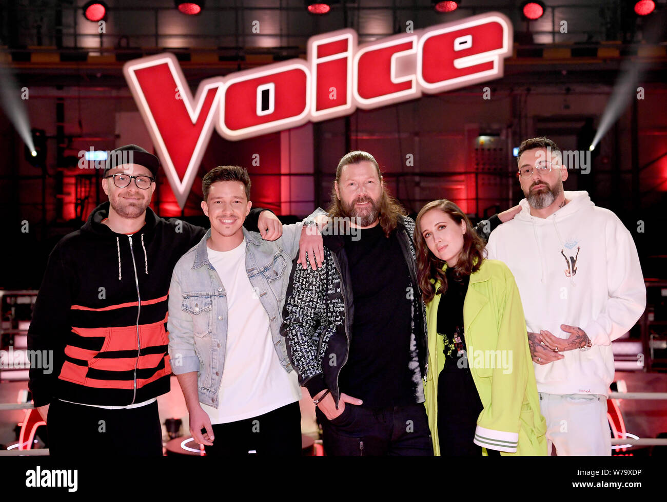 Berlin Germany 05th Aug 2019 Mark Forster L R Nico Santos Rea Garvey Alice Merton And Sido On The Sidelines Of The Voice Of Germany Credit Britta Pedersen Dpa Zentralbild Dpa Alamy Live News Stock Photo