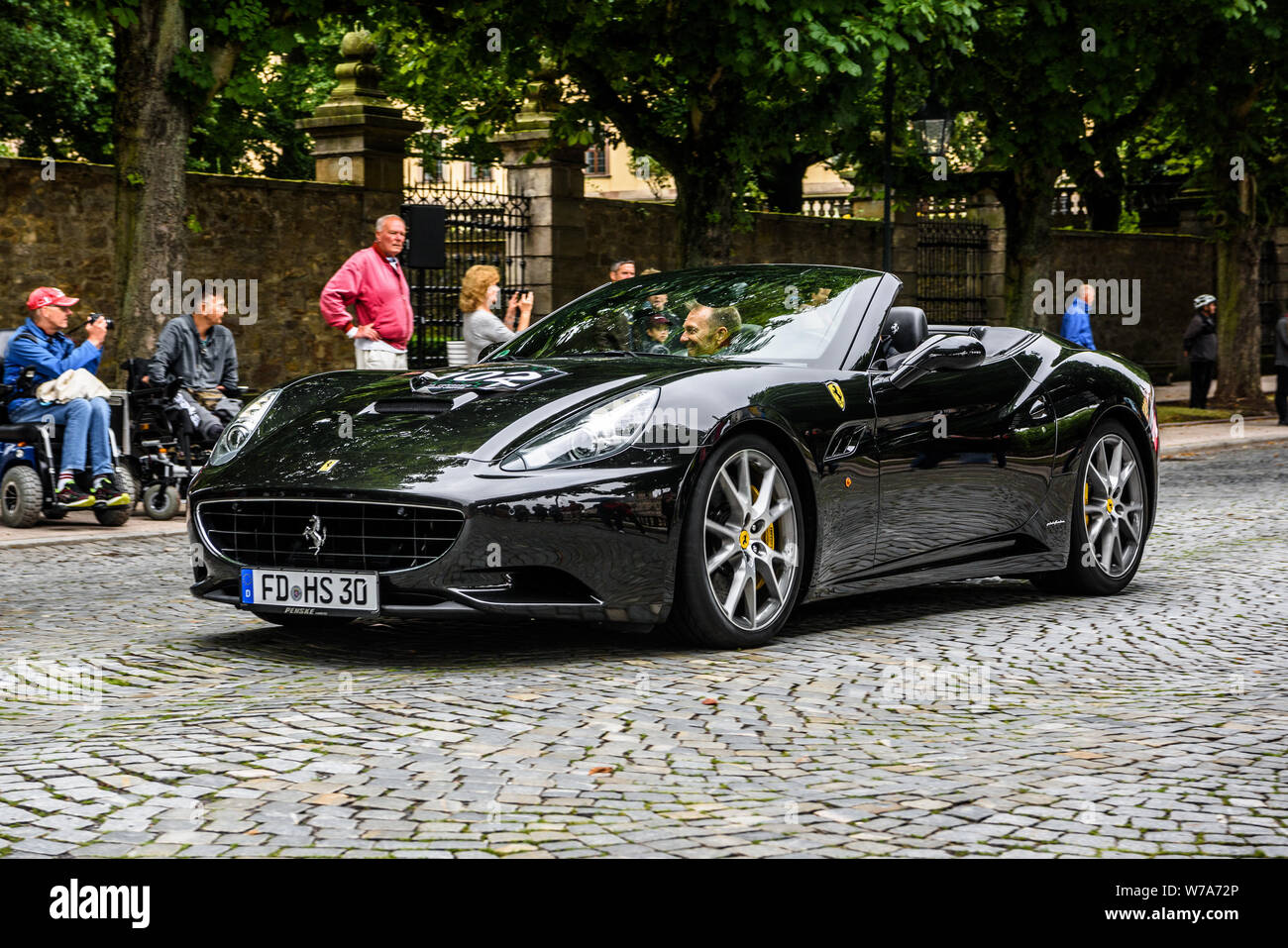 Germany Fulda Jul 2019 Black Ferrari California Type F149 Coupe Is A Grand Touring Sports Car Produced By The Italian Automotive Manufacturer Ferr Stock Photo Alamy