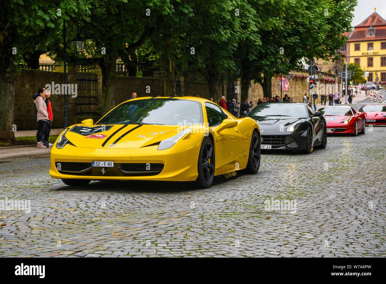 Germany Fulda Jul 2019 Yellow Ferrari 458 Spider Coupe Was Introduced At The 2011 Frankfurt Motor Show This Convertible Variant Of The 458 Italia Stock Photo Alamy
