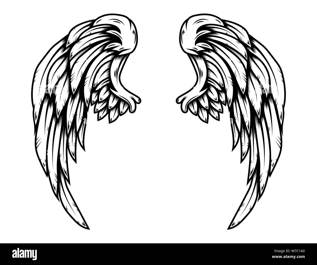 eagle wings in tattoo style isolated on white background design element for poster t shirt card emblem sign badge vector illustration stock vector image art alamy https www alamy com eagle wings in tattoo style isolated on white background design element for poster t shirt card emblem sign badge vector illustration image262722600 html