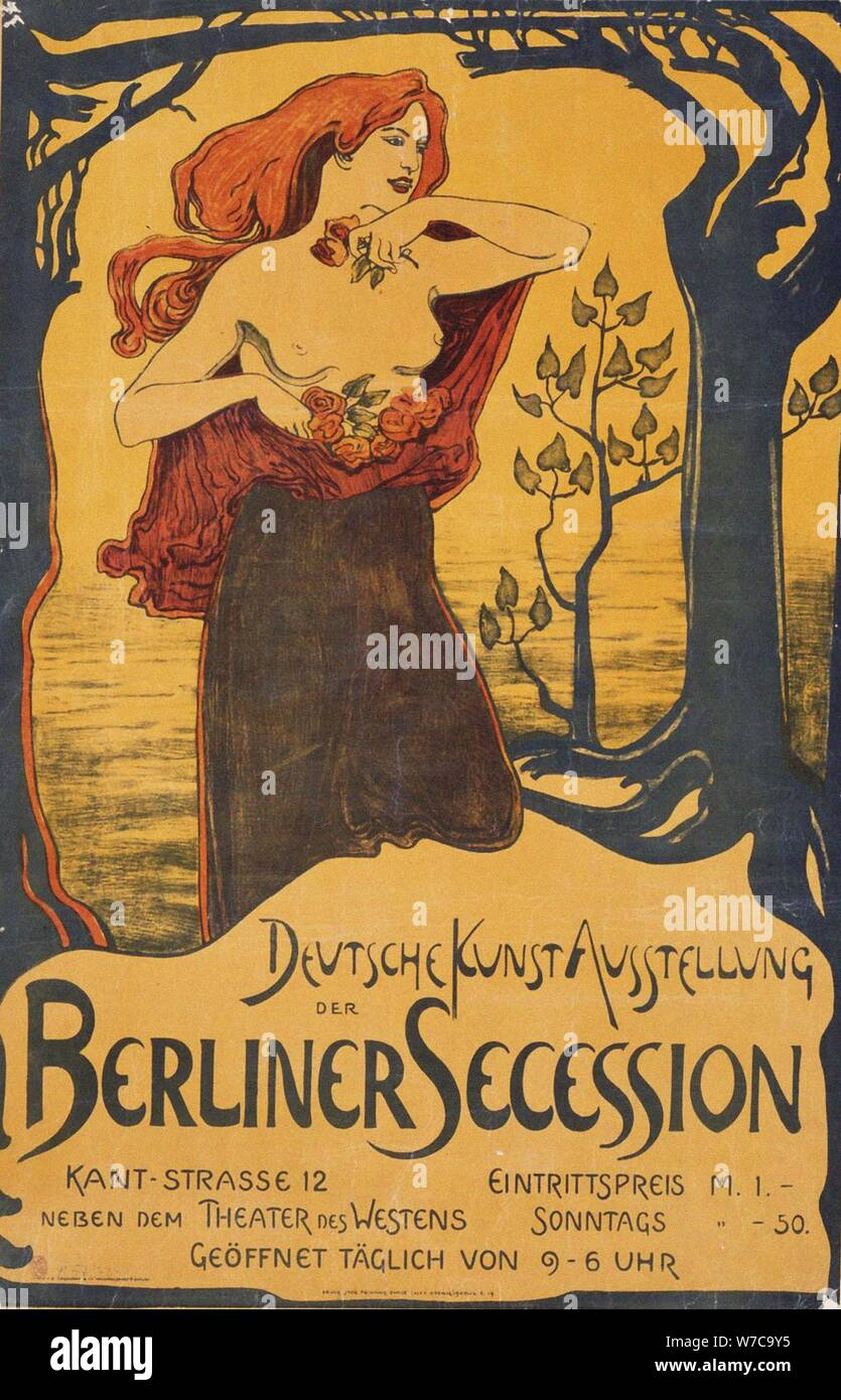Theatre A3 Art Poster Print Berliner Secession 1900