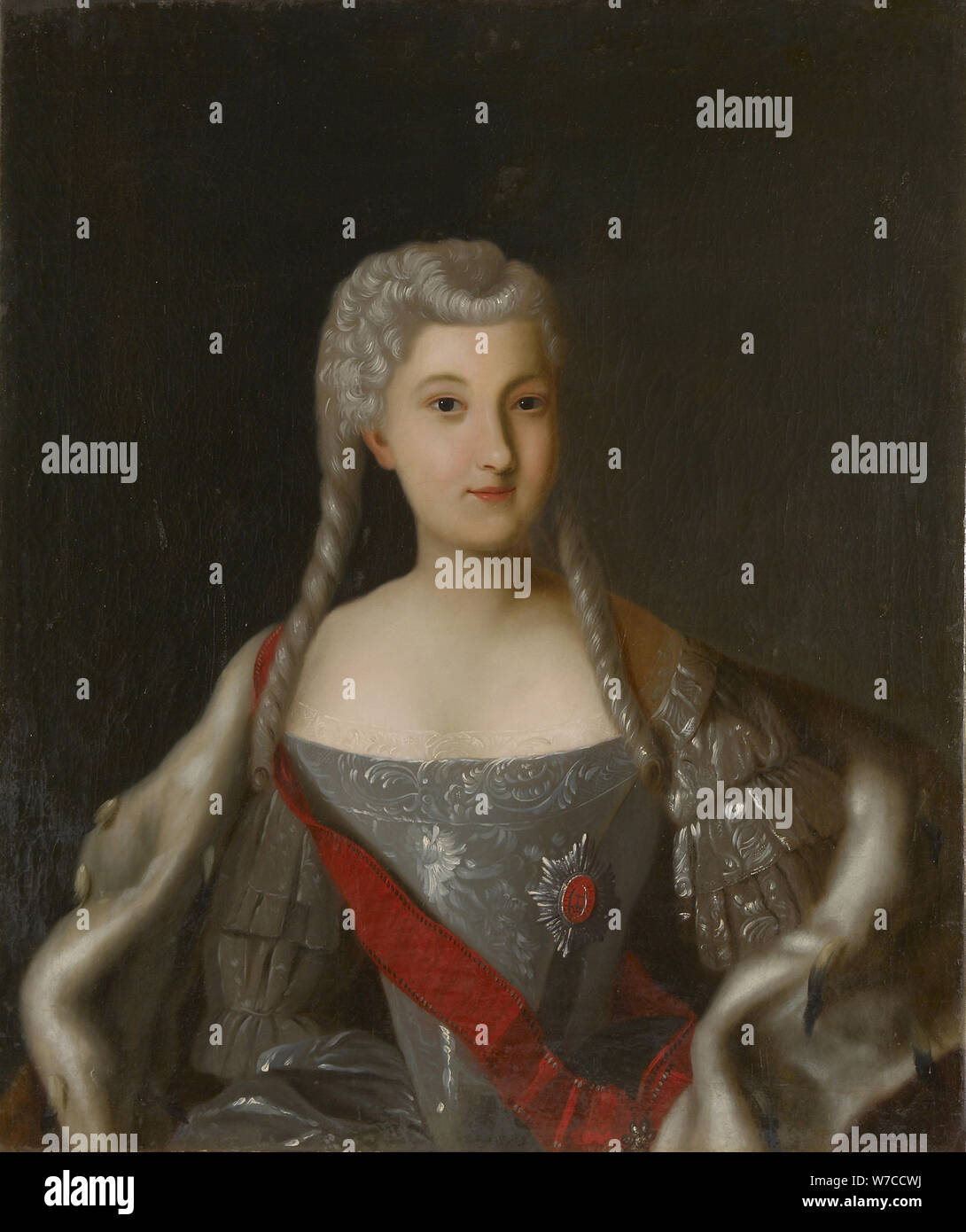 Portrait of Princess Anna Leopoldovna (1718-1746), tsar's Ivan VI mother. Stock Photo