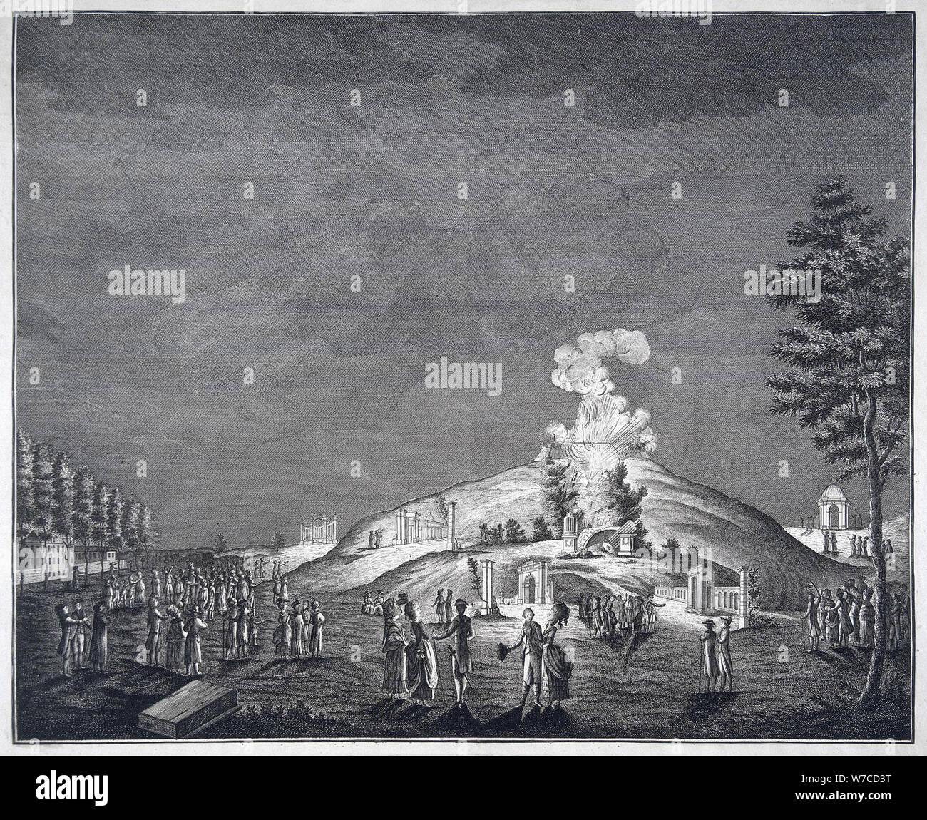 The Illumination on October 28, 1740. Stock Photo