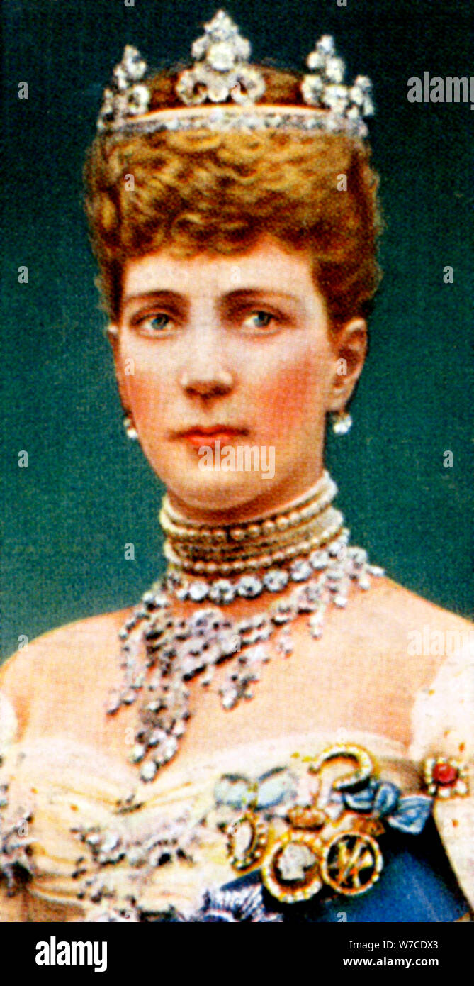 Alexandra of Denmark, late 19th century. Artist: Unknown Stock Photo - Alamy