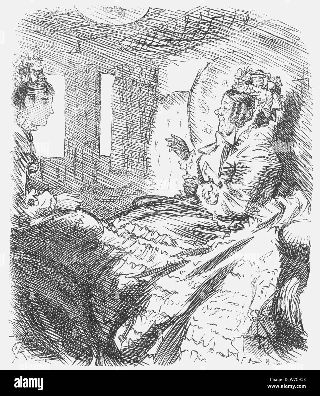 'The Question Settled', 1874. Artist: Charles Samuel Keene Stock Photo