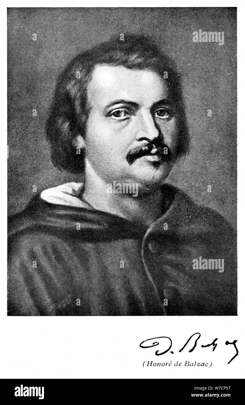 Honore De Balzac 1799 1850 French Novelist And Literary