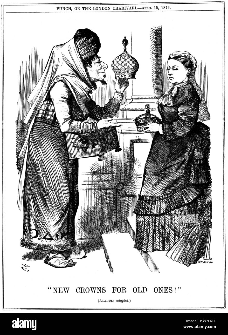 Image result for new lamps for old  Punch cartoon in the British press (15 April 1876