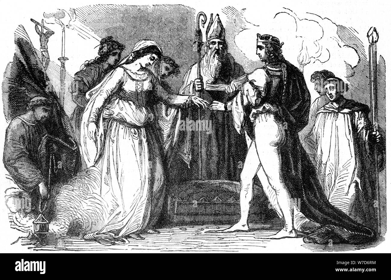 Marriage of Henry I of England and Matilda, 1100. Artist: Unknown Stock Photo