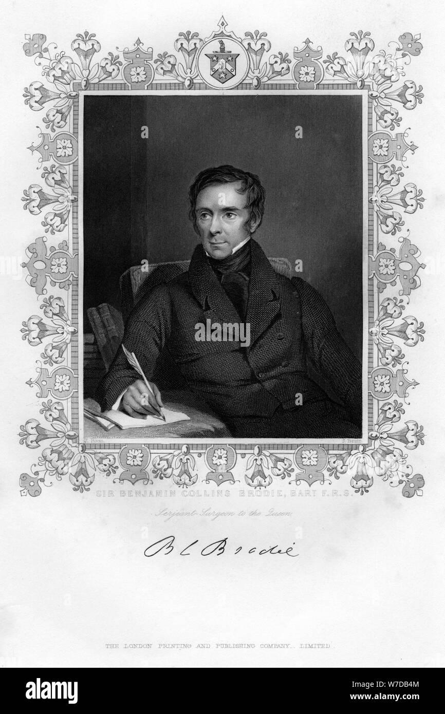 Sir Benjamin Collins Brodie, 19th century.Artist: J Brain Stock Photo