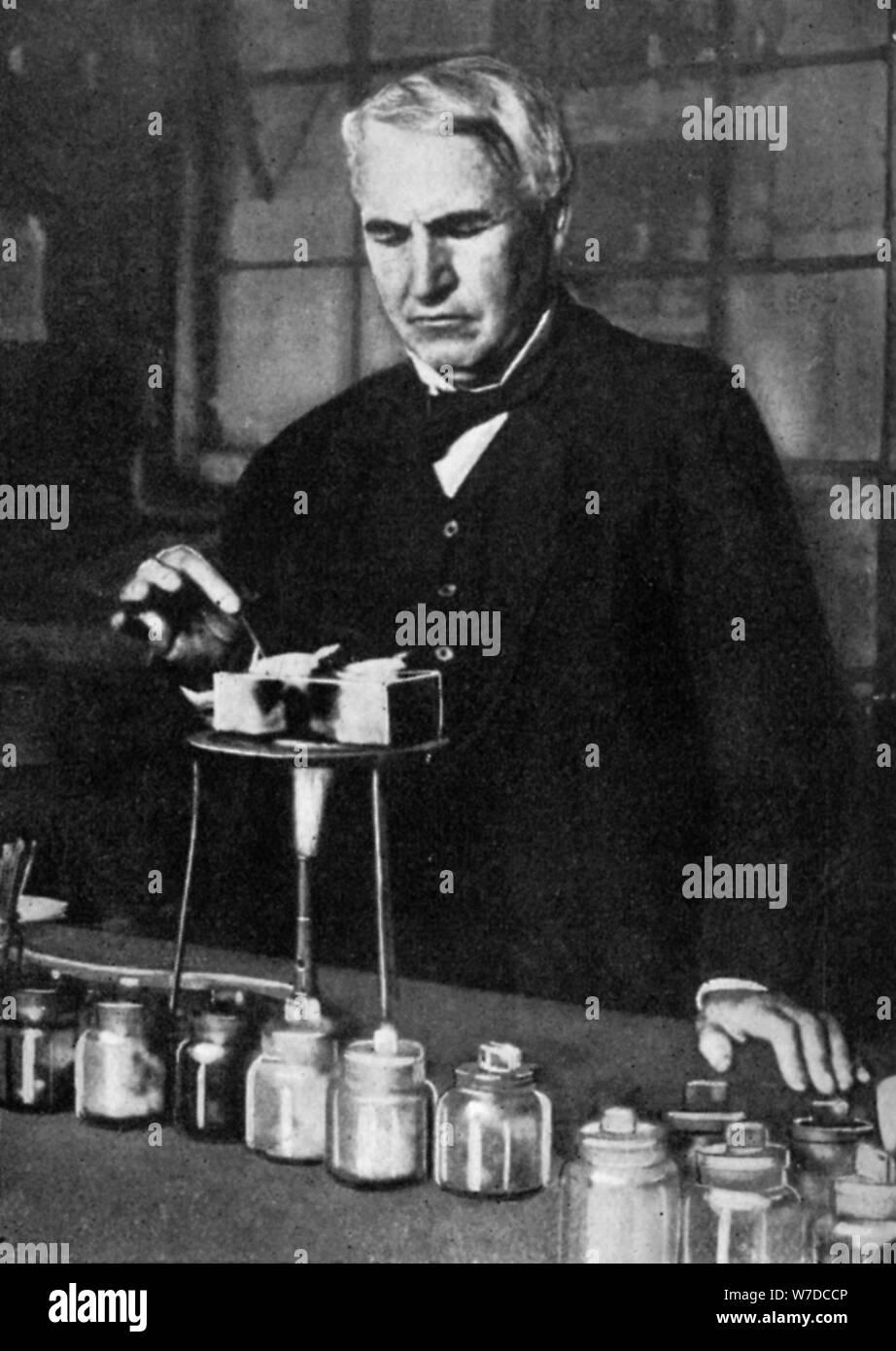 Thomas Alva Edison American Inventor And Businessman 1926