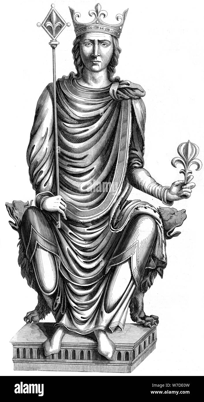 King Philip II of France (1165-1223), 16th century (1849).Artist: Dutillet Stock Photo