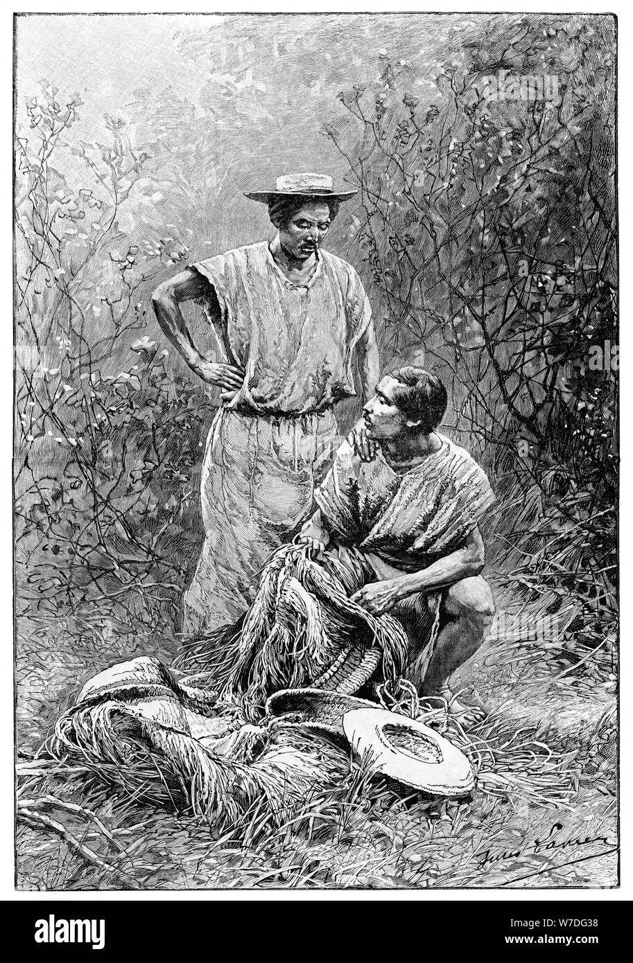 Mojos Indians, South America, 1895. Artist: Unknown Stock Photo